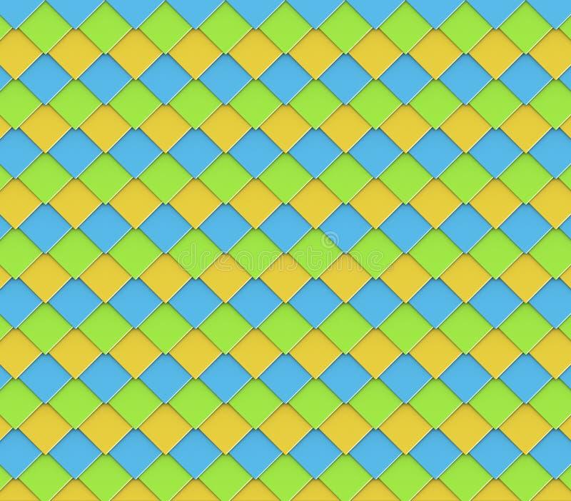 Diagonale vierkante de tegelachtergrond van de diamantvorm stock illustratie