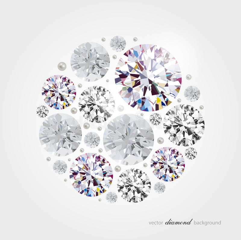 Abstracte diamantachtergrond stock illustratie