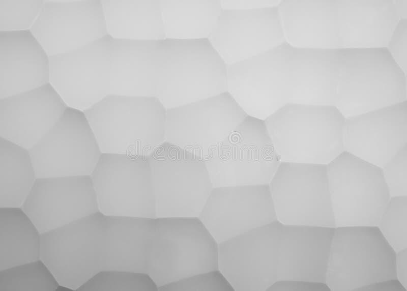 Abstracte die beeldpanelen van gips met meetkundepatroon worden gemaakt stock foto