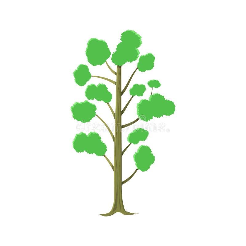 Abstracte die boom op wit wordt geïsoleerd royalty-vrije illustratie