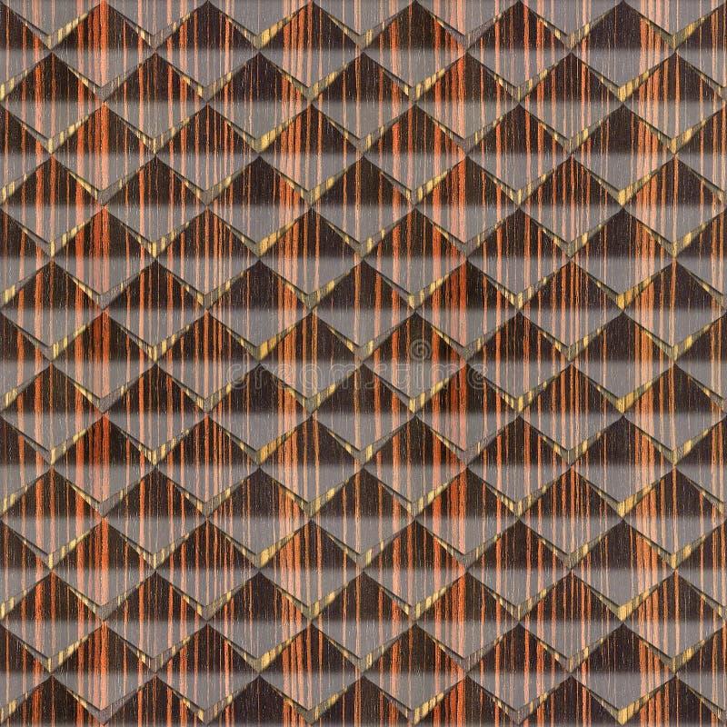 Abstracte die knipsels voor naadloze achtergrond worden gestapeld - Ebbehouten hout stock illustratie