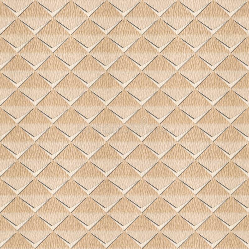 Abstracte die knipsels voor naadloze achtergrond worden gestapeld - Witte Eik stock illustratie