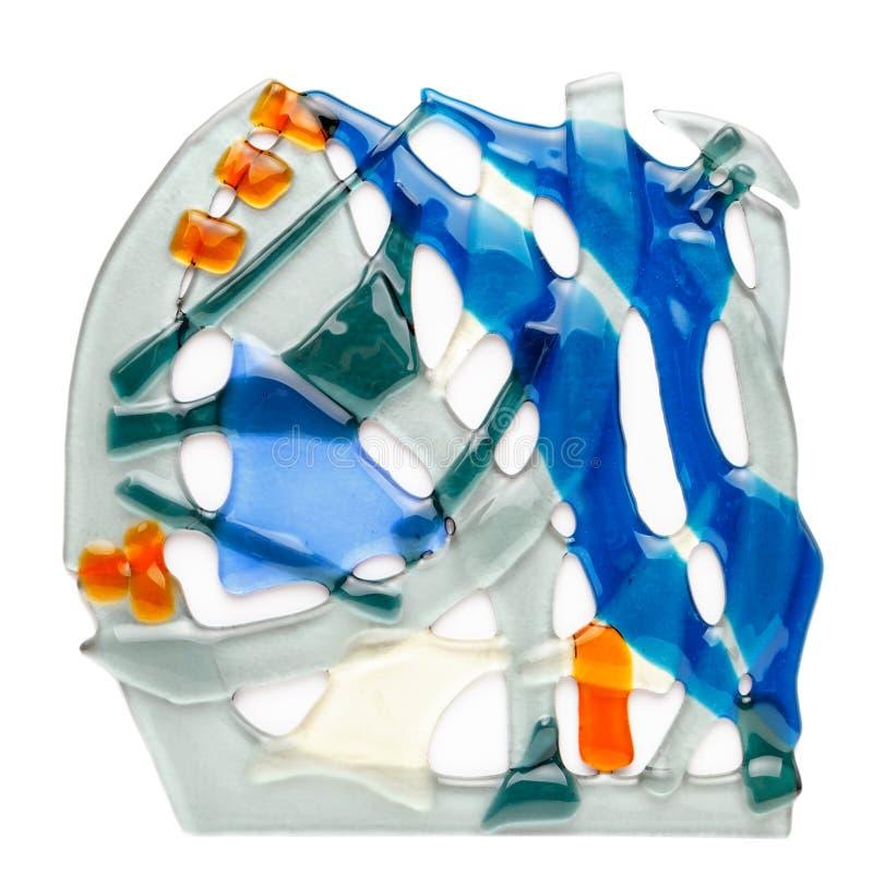 Abstracte die samenstelling van gekleurd glas door het smelten technologie wordt gemaakt stock afbeeldingen
