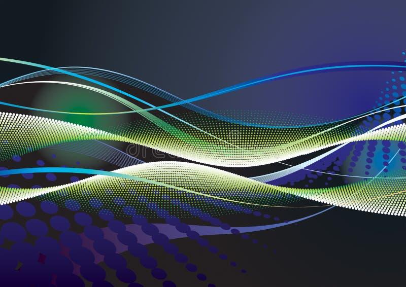 Abstracte digitale achtergrond stock illustratie