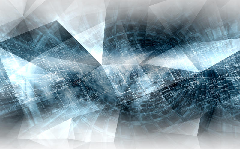 Abstracte digitale achtergrond, high-tech CG-concept vector illustratie