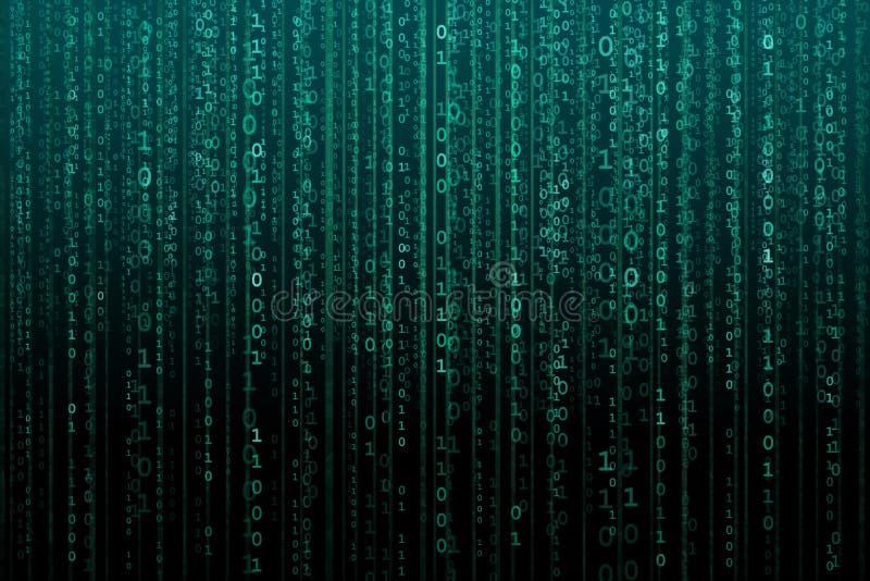 Abstracte digitale achtergrond met binaire code Hakkers, darknet, virtuele werkelijkheid en science fiction stock foto