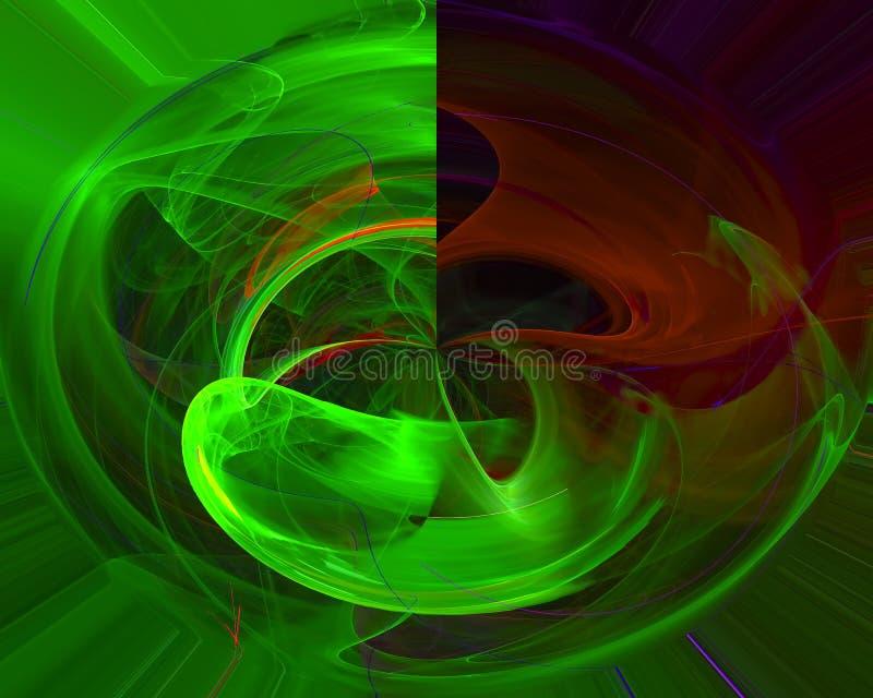 Abstracte digitale bekledingsfractal van het de motiepatroon van het machtsconcept moderne, surreal de achtergrondwetenschap vector illustratie