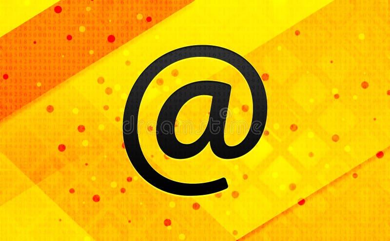 Abstracte digitale de banner gele achtergrond van het e-mailadrespictogram stock illustratie