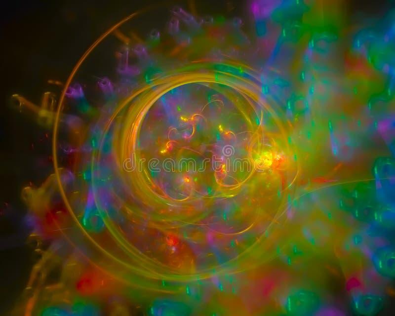 Abstracte digitale dynamisch fractal, mooi geweven ontwerp, royalty-vrije illustratie
