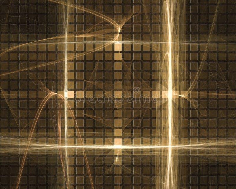 Abstracte digitale grafisch fractal maakt stroom trillende toekomstige van de het ornamentfantasie van de vormachtergrond het ont royalty-vrije illustratie