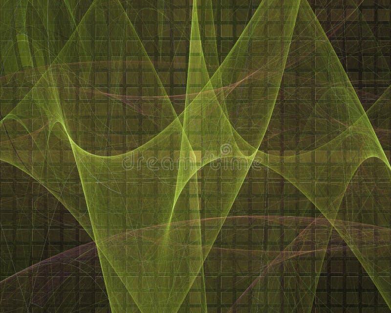 Abstracte digitale grafisch fractal maakt stroom trillende toekomstige van de het ornamentfantasie van de vormachtergrond het ont vector illustratie