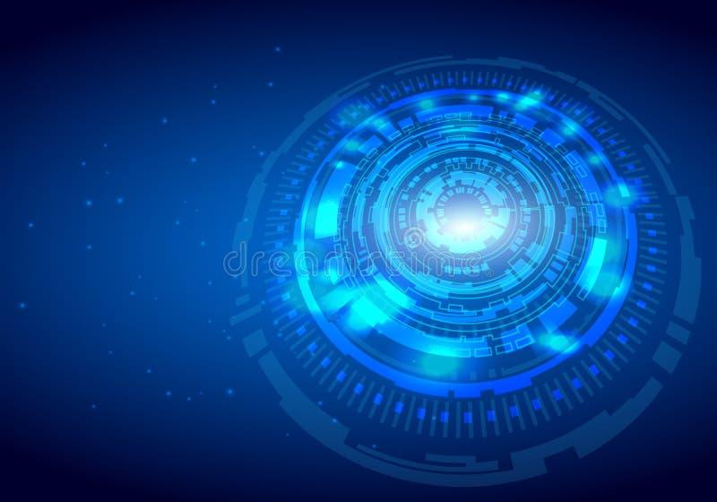 Abstracte digitale hallo technologie-het concepten vectorachtergrond van de technologieinnovatie royalty-vrije illustratie