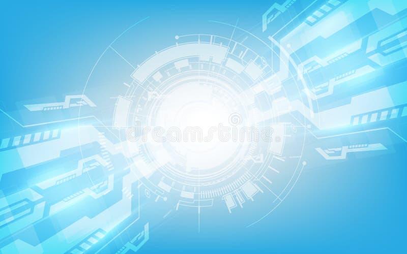 Abstracte digitale hallo technologie-het concepten vectorbedelaars van de technologieinnovatie stock illustratie