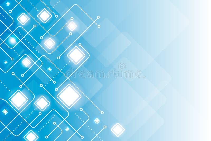 Abstracte digitale lijn geometrische blauwe vector als achtergrond royalty-vrije illustratie