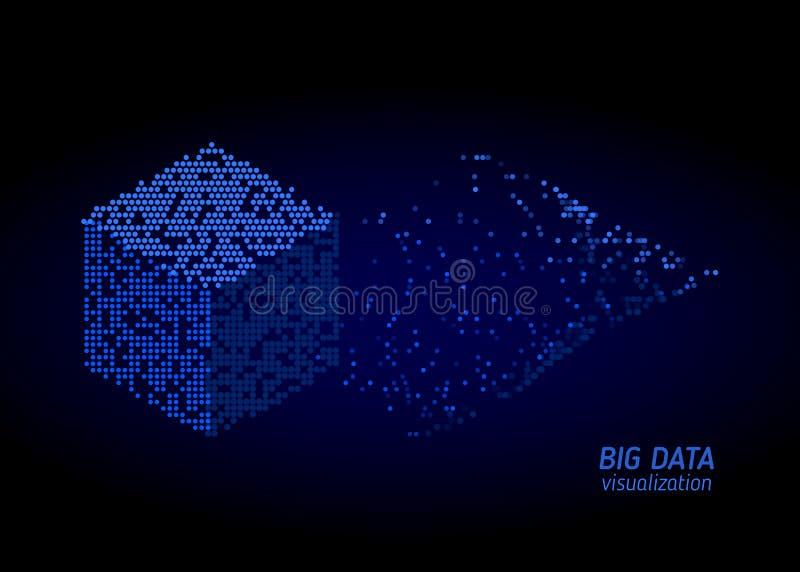 Abstracte digitale sorterende informatie Analyse van informatie stock illustratie