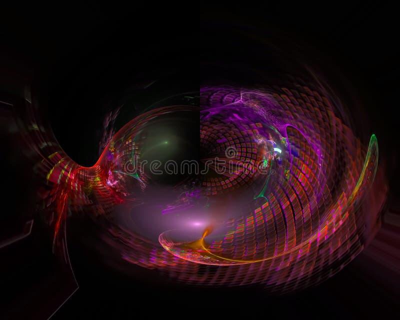 Abstracte digitale surreal fractal, het creatieve malplaatje van het textuurontwerp stock illustratie