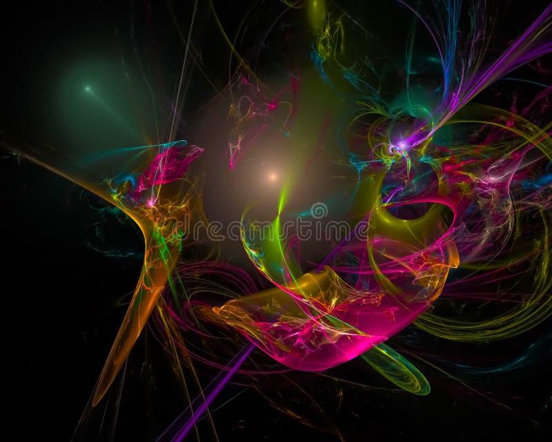 Abstracte digitale surreal fractal, het ontwerp creatief malplaatje van de chaostextuur vector illustratie
