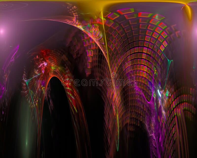 Abstracte digitale surreal fractal, het ontwerp creatief malplaatje van het textuurbehang royalty-vrije illustratie