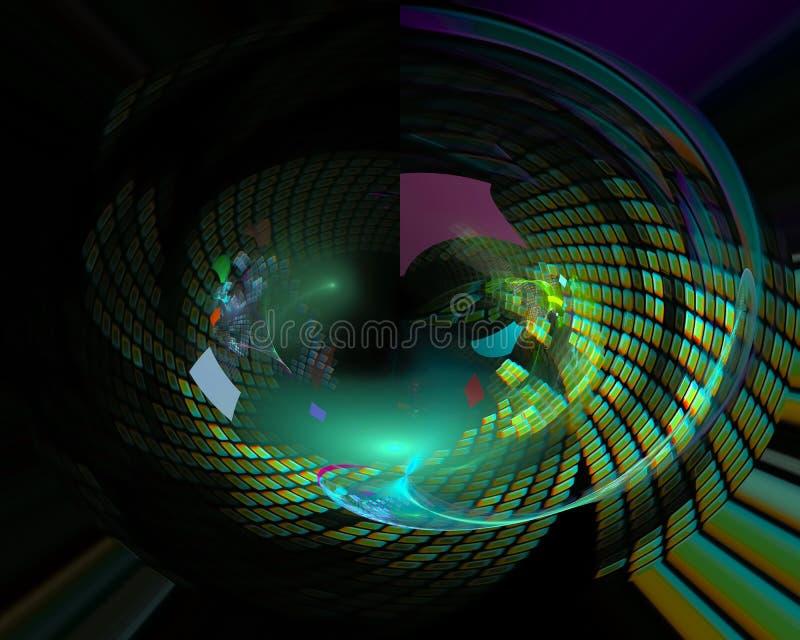 Abstracte digitale surreal fractal, ontwerpt creatief malplaatje royalty-vrije illustratie