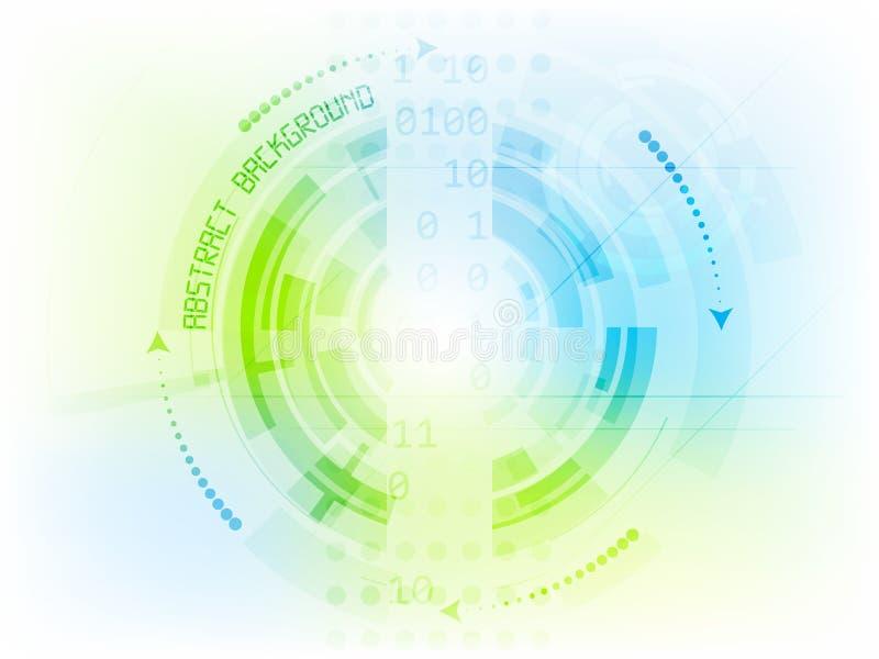 Abstracte digitale technologieachtergrond met toestellen stock illustratie