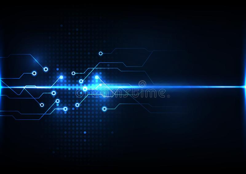 Abstracte digitale van de het systeemverbinding van de technologiekring van het het achtergrond signaalconcept malplaatjevector royalty-vrije illustratie