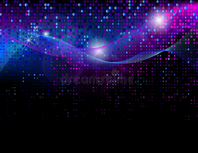 Abstracte discoachtergrond vector illustratie