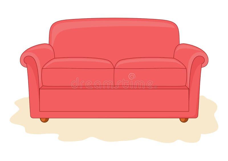 Abstracte divan. vector illustratie