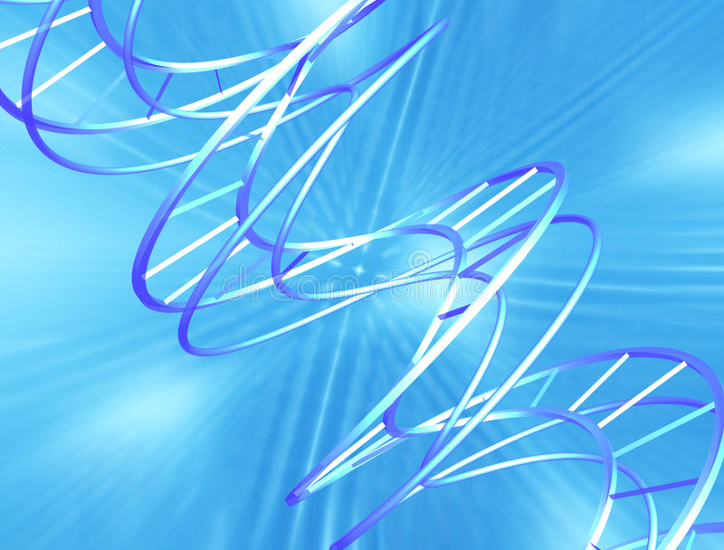 Abstracte DNA vector illustratie