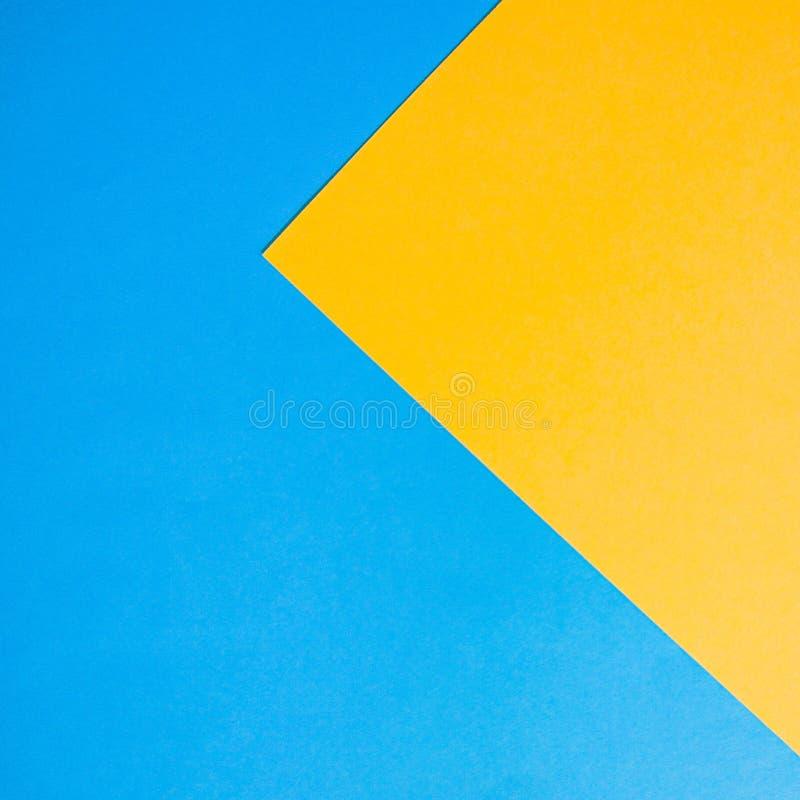 Abstracte document achtergrond voor ontwerp Blauw en geel royalty-vrije stock afbeelding