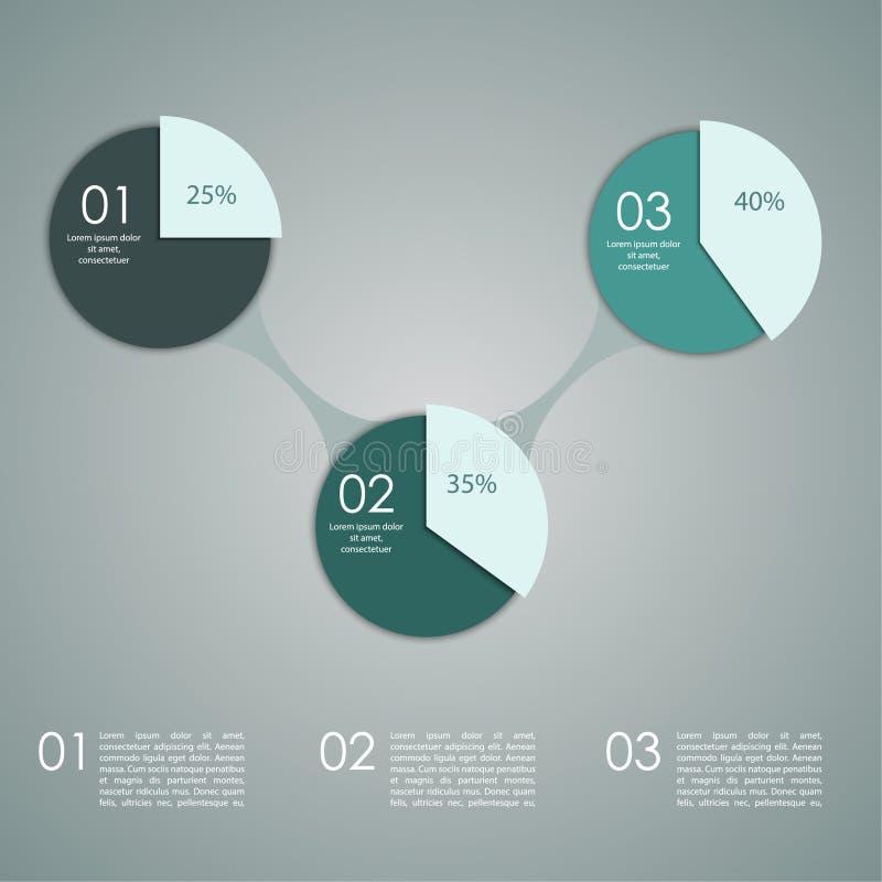 Abstracte document banner voor infographics, stock illustratie