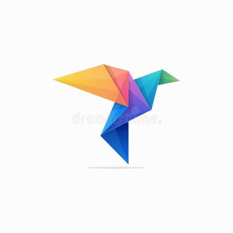Abstracte Document de illustratie vectorontwerpsjabloon van het Duifconcept stock illustratie