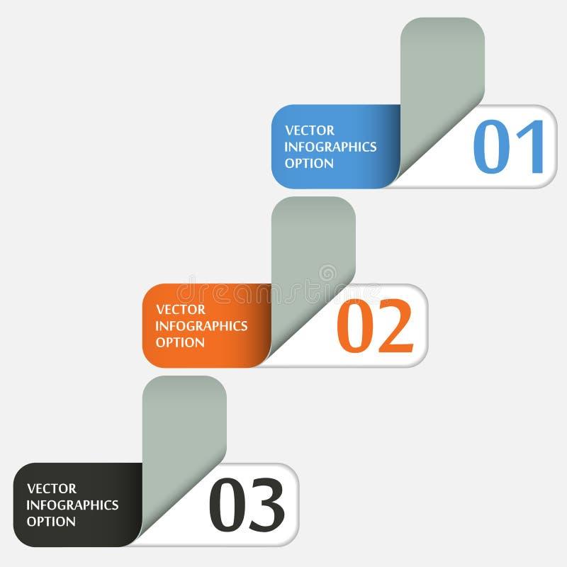 Abstracte Document Etikettenbanners royalty-vrije illustratie