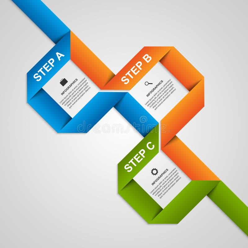Abstracte document infographic lintenopties Het element van het ontwerp royalty-vrije illustratie