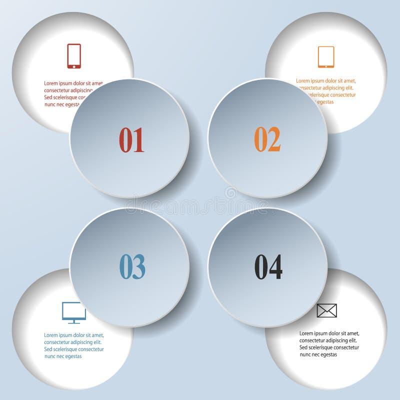 Abstracte document infographics. Intern en extern gegevensconcept royalty-vrije illustratie