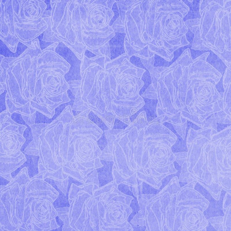 Abstracte document rozenachtergrond royalty-vrije illustratie