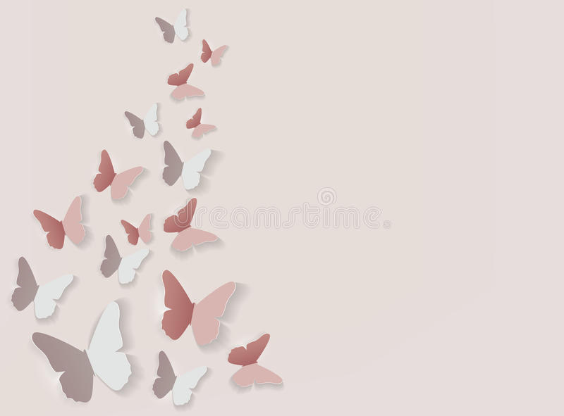 Abstracte Document Verwijderde Vlinderachtergrond Vector illustratie royalty-vrije illustratie