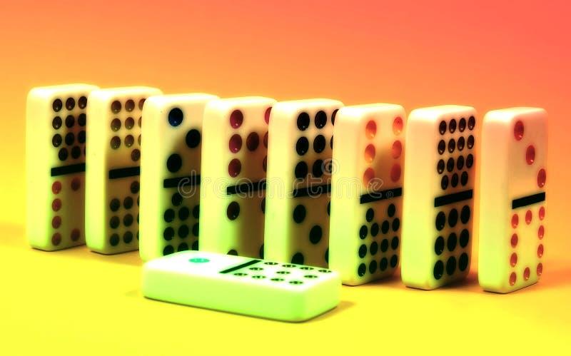 Abstracte Domino's royalty-vrije stock foto's