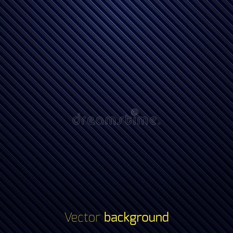 Abstracte donkerblauwe gestreepte achtergrond stock illustratie