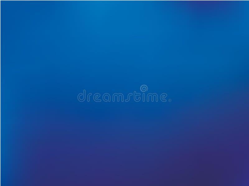Abstracte donkerblauwe vage achtergrond De vlotte kleur van de gradiënttextuur Vector illustratie Golvend, dynamisch websitepatro royalty-vrije illustratie