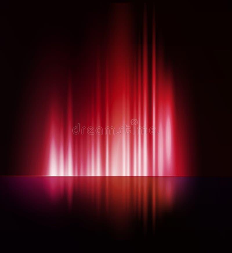 Abstracte donkere achtergrond met glanzende lichte lijnen vector illustratie
