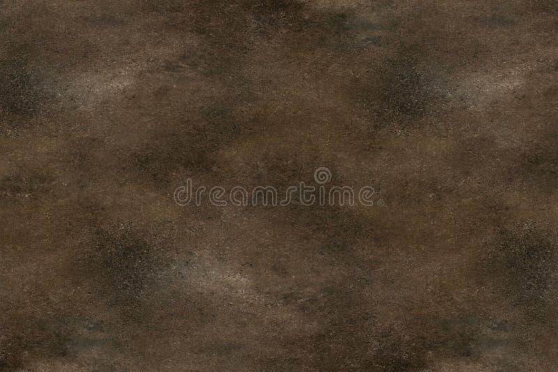 Abstracte donkere bruine cementachtergrond, uitstekende grungetextuur stock afbeelding