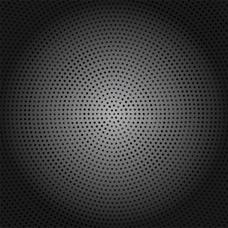 Abstracte Donkere Glanzende Metaalachtergrond met Dots Pattern stock illustratie
