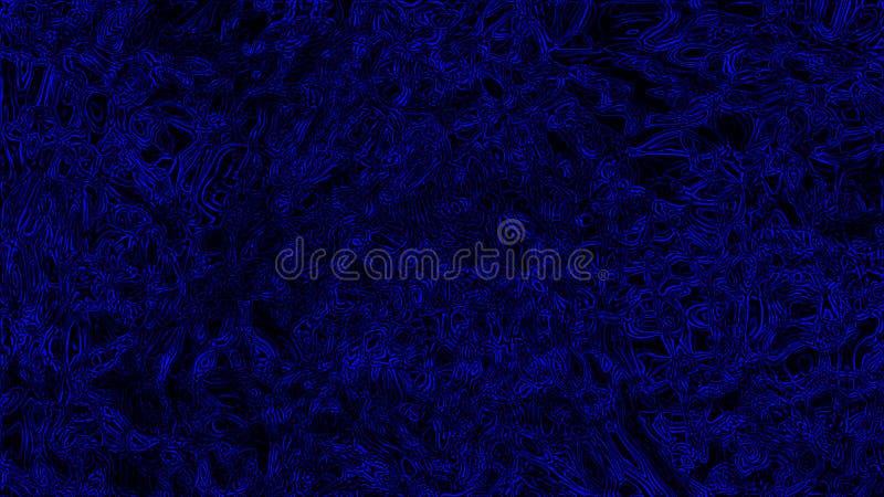 Abstracte donkere illustratie Blauwe lichte achtergrond uitstekende stijl Blauwe lijnachtergrond stock fotografie