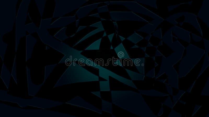 Abstracte donkere illustratie Blauwe muurachtergronden Blauwe lijnachtergrond stock illustratie