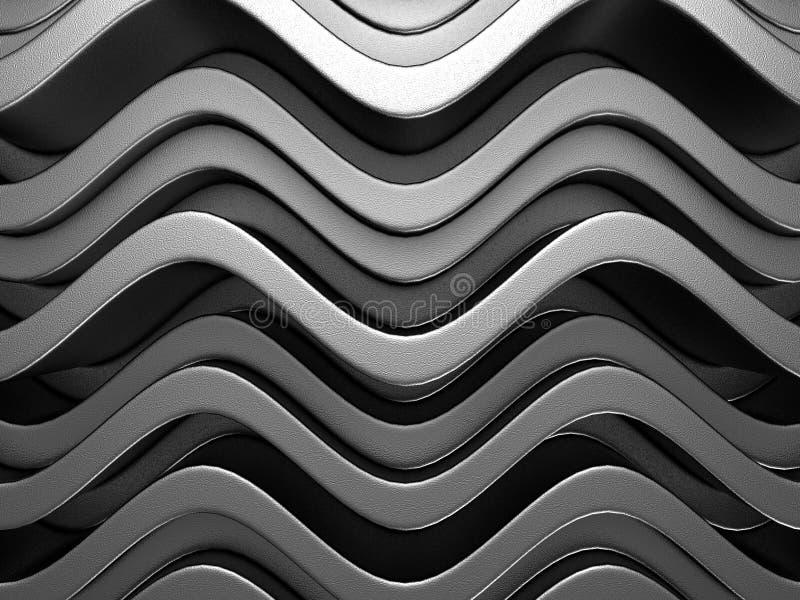 Abstracte Donkere Metaal Zilveren Alluminium-Achtergrond royalty-vrije illustratie