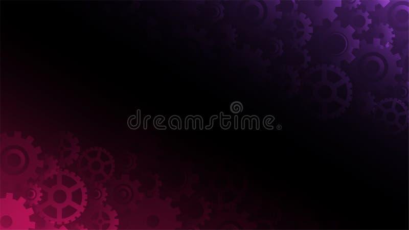 Abstracte donkere violette en roze toestellenachtergrond royalty-vrije illustratie