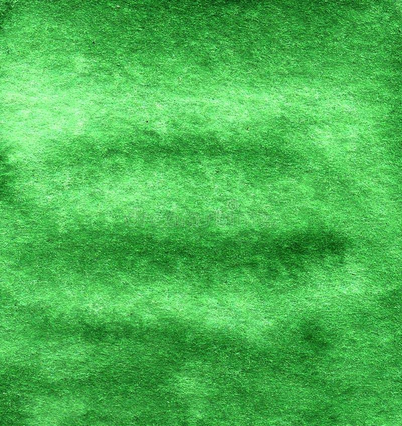 Abstracte donkergroene met de hand getrokken waterverfachtergrond royalty-vrije illustratie