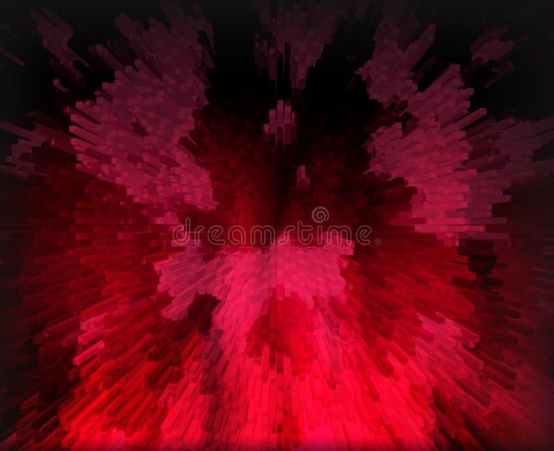 Abstracte donkerrode achtergrond voor ontwerp royalty-vrije illustratie