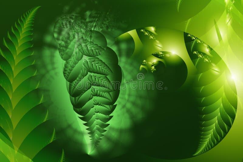 Abstracte, door de computer geproduceerde fractal royalty-vrije illustratie