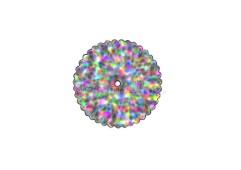 Abstracte doughnut met kleurrijk patroon stock illustratie
